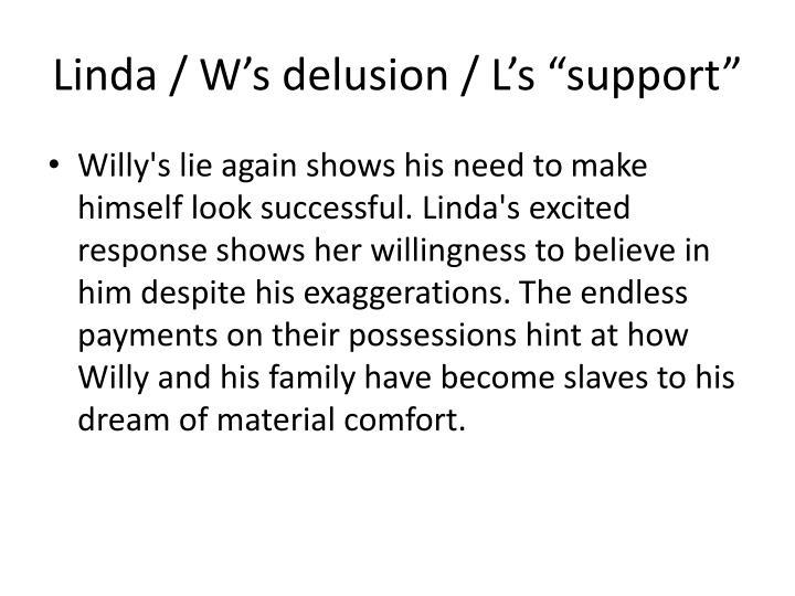 Linda / W's delusion / L's