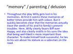 memory parenting delusion