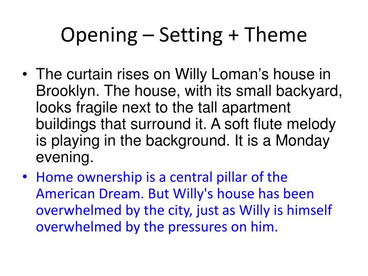 Opening – Setting + Theme