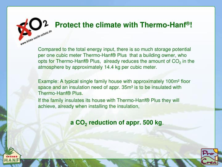 Protect the climate with Thermo-