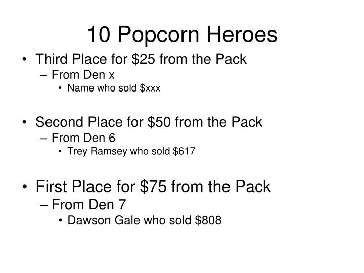 10 Popcorn Heroes