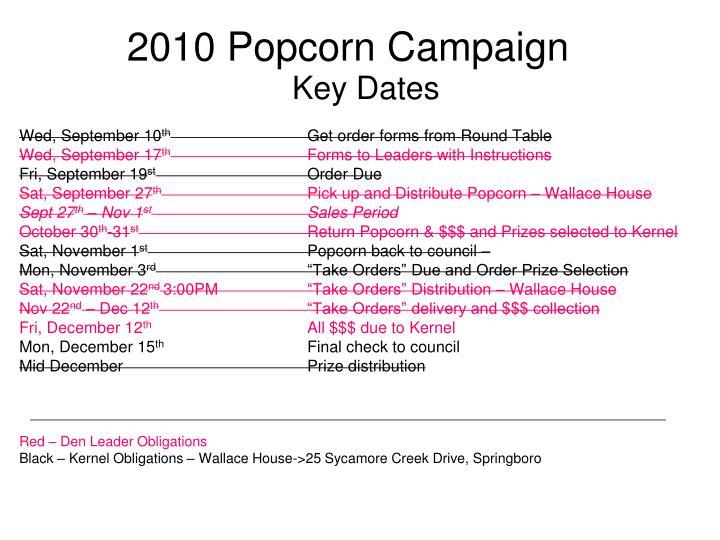 2010 Popcorn Campaign