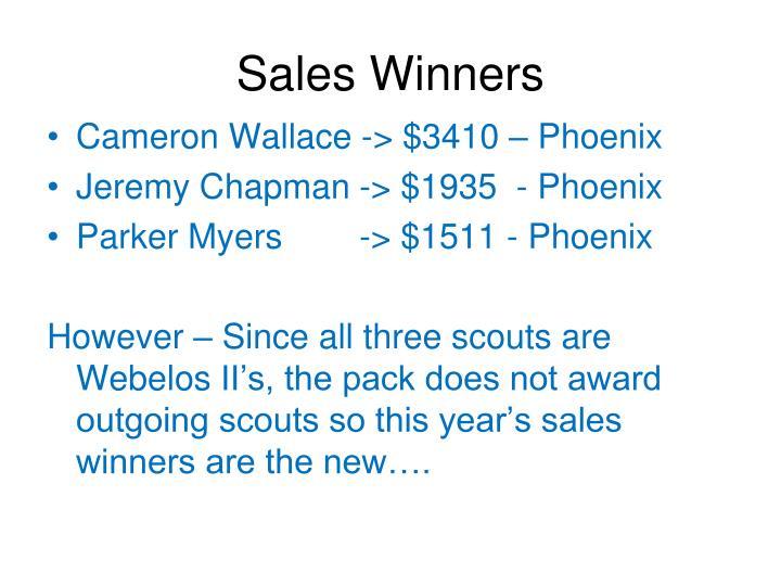 Sales Winners