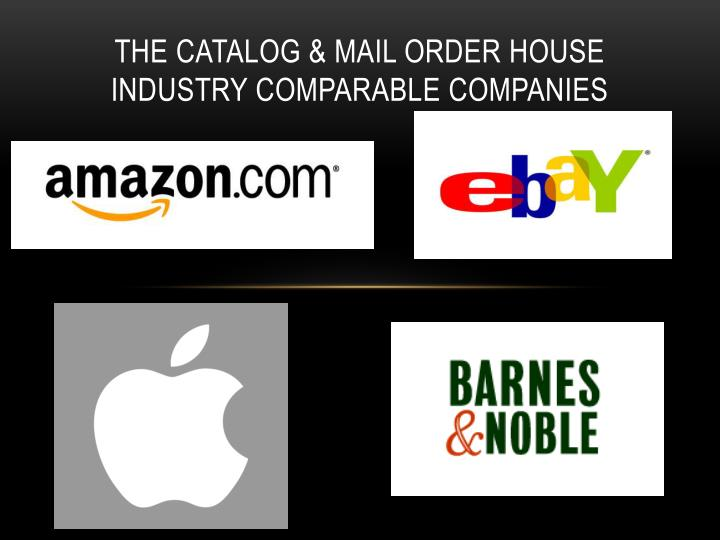 The Catalog & mail order house industry Comparable companies