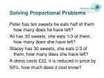 solving proportional problems