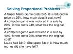 solving proportional problems1
