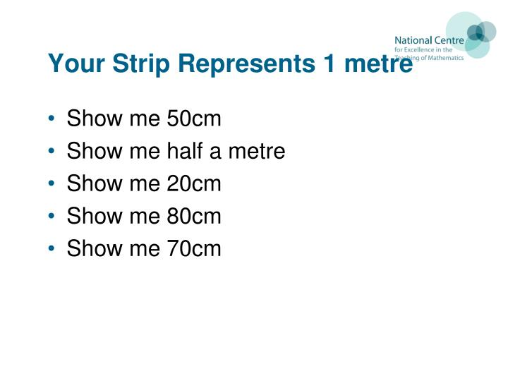 Your Strip Represents 1 metre