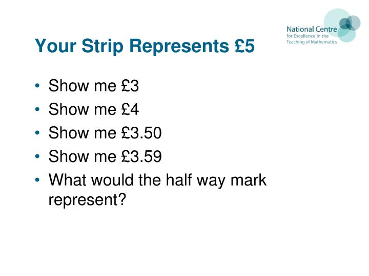 Your Strip Represents £5