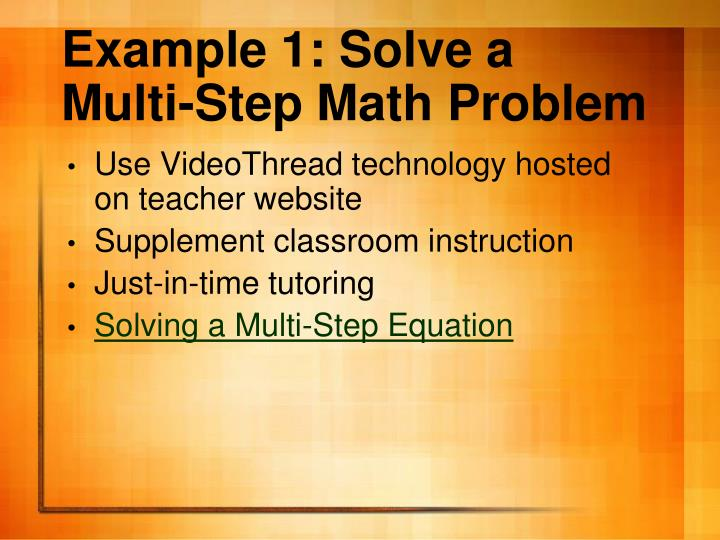 Example 1: Solve a Multi-Step Math Problem