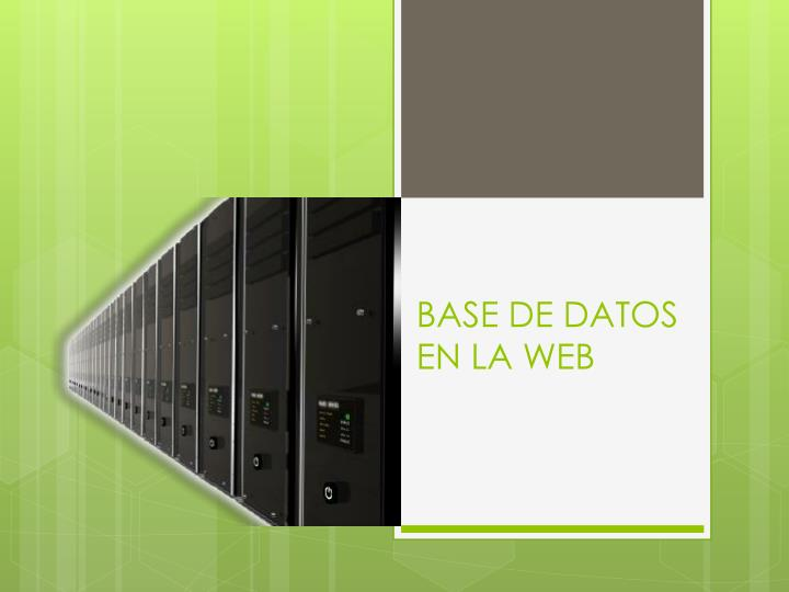 Base de datos en la web