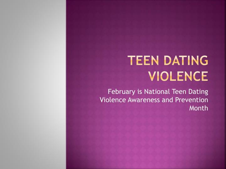 Teenage dating violence prevention month