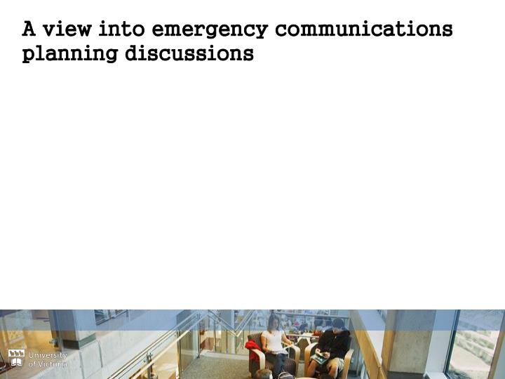A view into emergency communications planning discussions