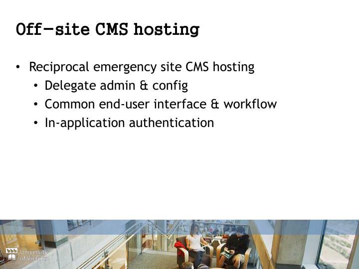 Off-site CMS hosting
