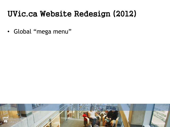 UVic.ca Website Redesign (2012)