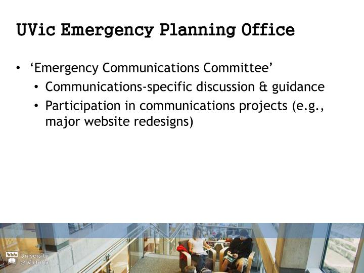 UVic Emergency Planning Office
