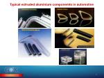 typical extruded aluminium componemts in automotive