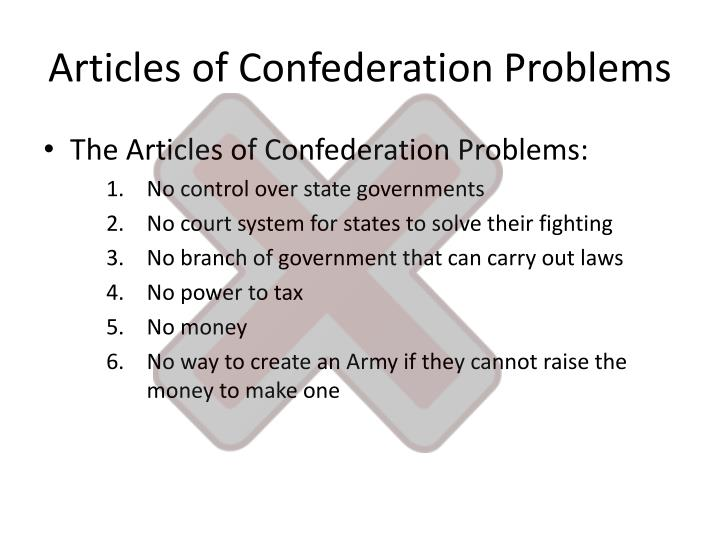 Articles of Confederation Problems