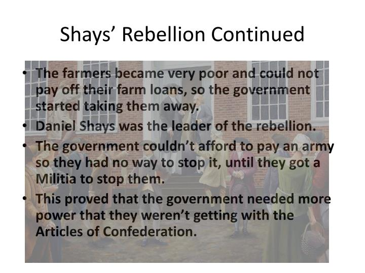 Shays' Rebellion Continued