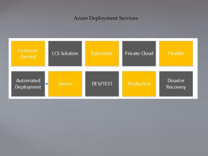 Azure Deployment Services