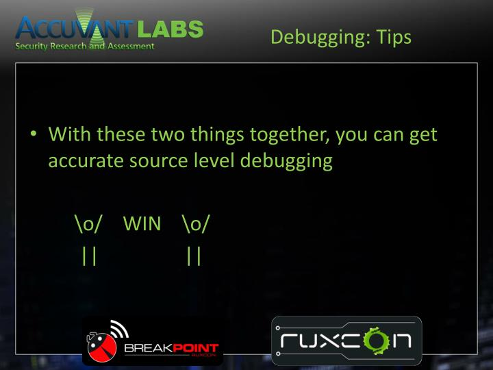 Debugging: Tips