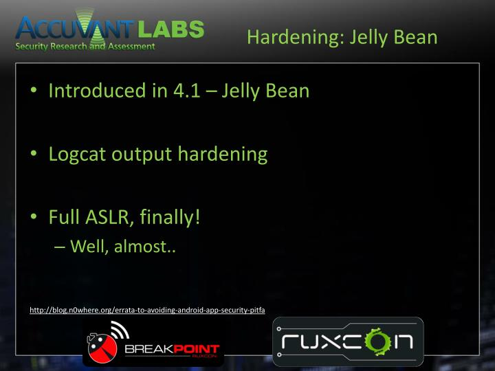 Hardening: Jelly Bean
