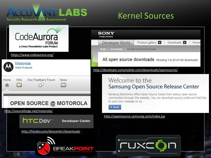 Kernel Sources