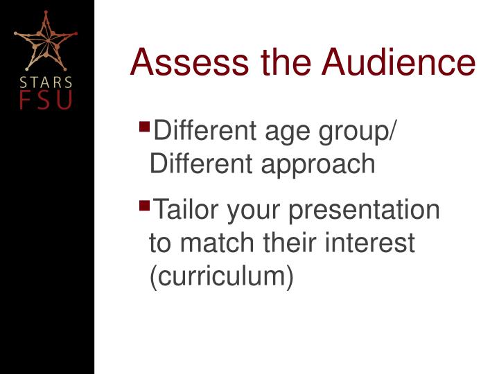 Assess the Audience