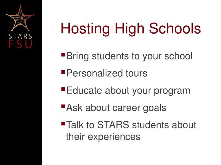 Hosting High Schools