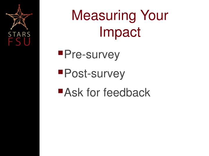 Measuring Your Impact