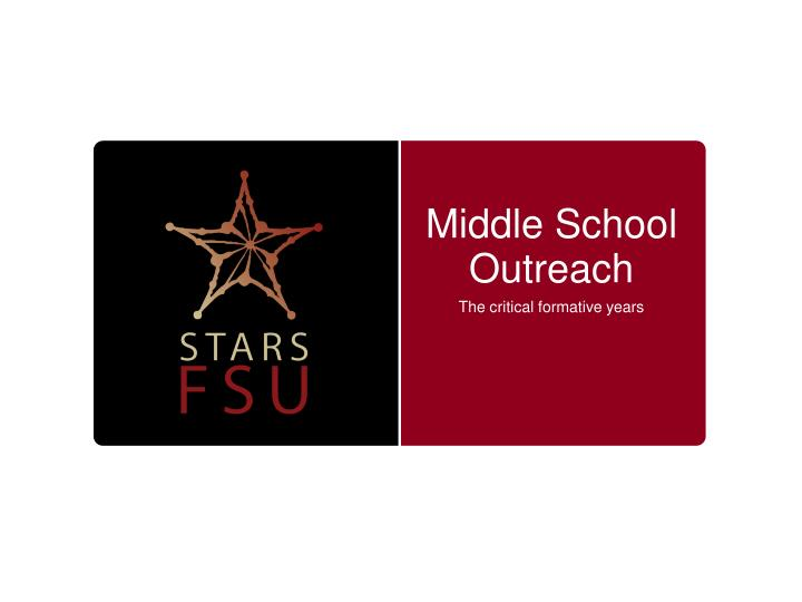 Middle School Outreach