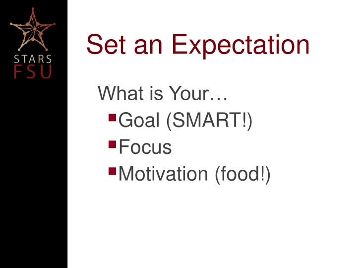Set an Expectation