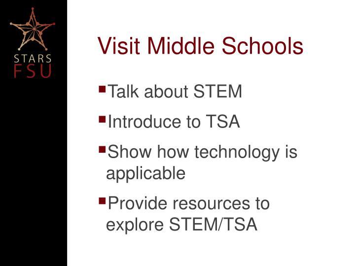 Visit Middle Schools
