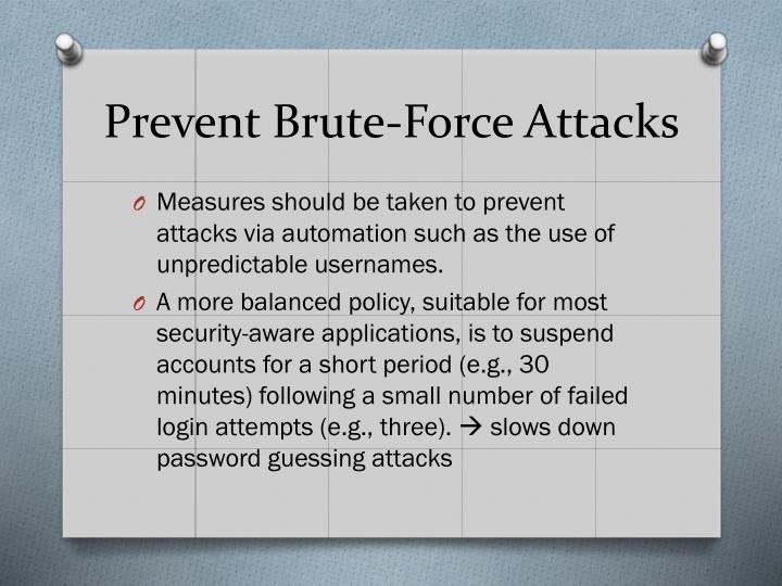 Prevent Brute-Force Attacks