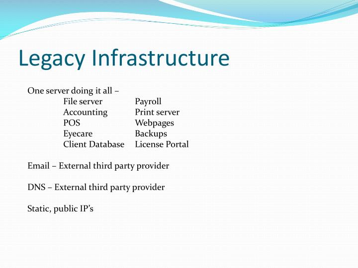 Legacy Infrastructure