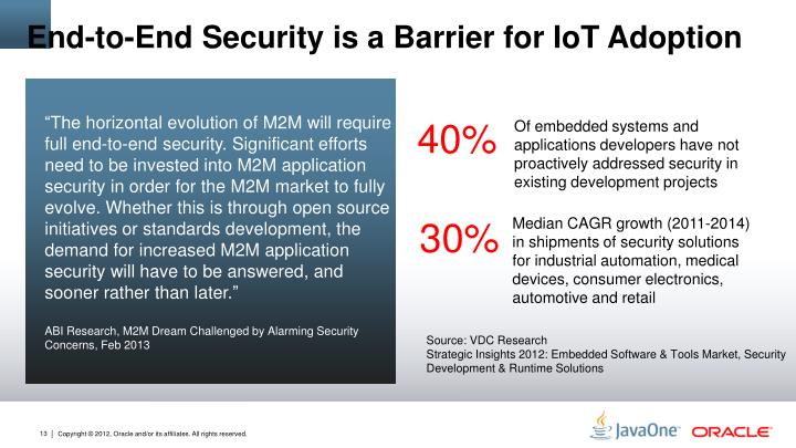End-to-End Security is a Barrier for IoT Adoption