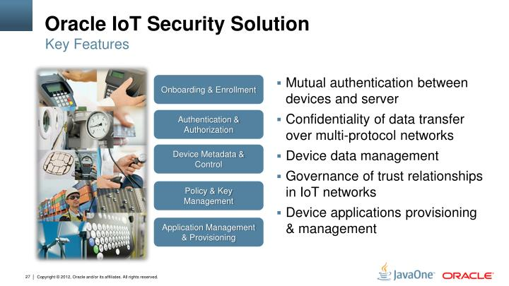 Oracle IoT Security Solution