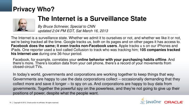 Privacy Who?