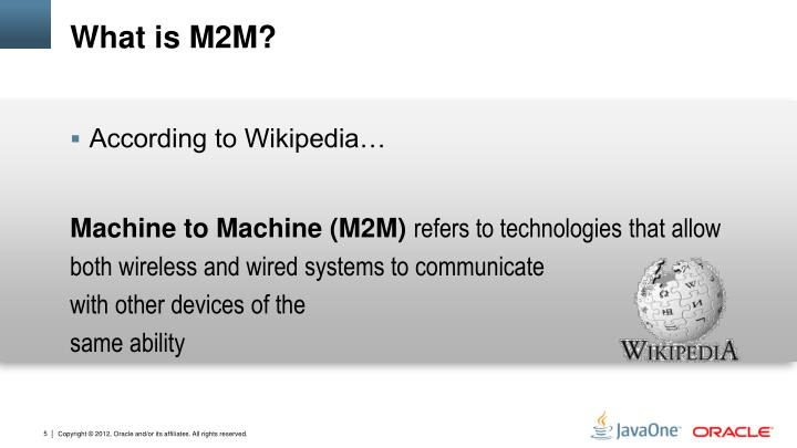 What is M2M?