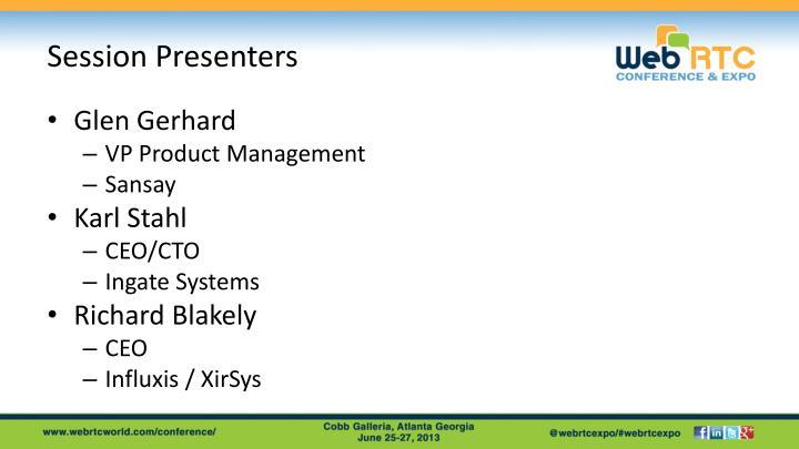 Session Presenters