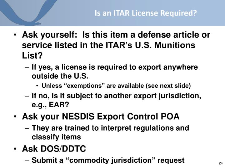 Is an ITAR License Required?