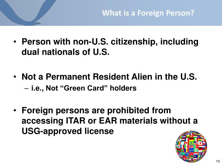 What is a Foreign Person?
