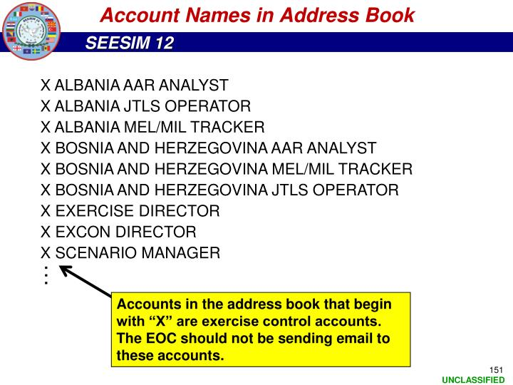 Account Names in Address Book