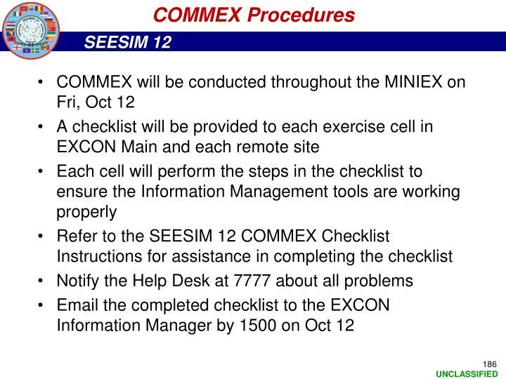 COMMEX Procedures