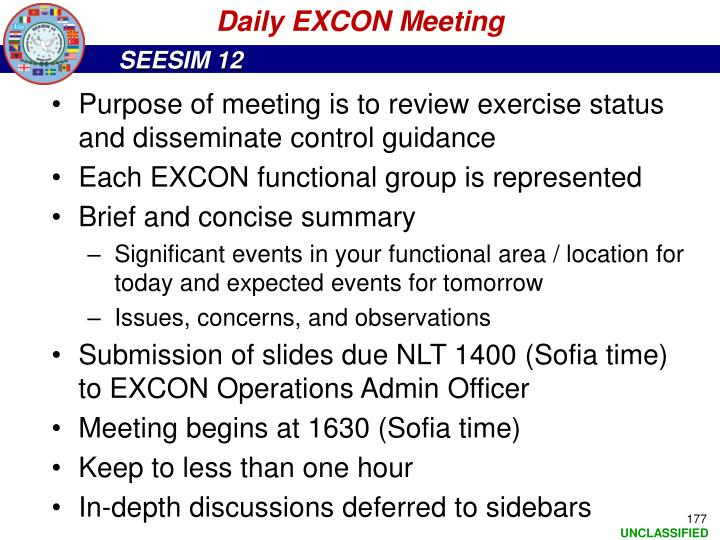Daily EXCON Meeting