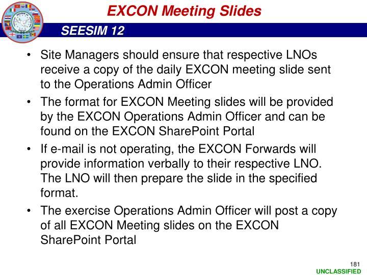 EXCON Meeting Slides