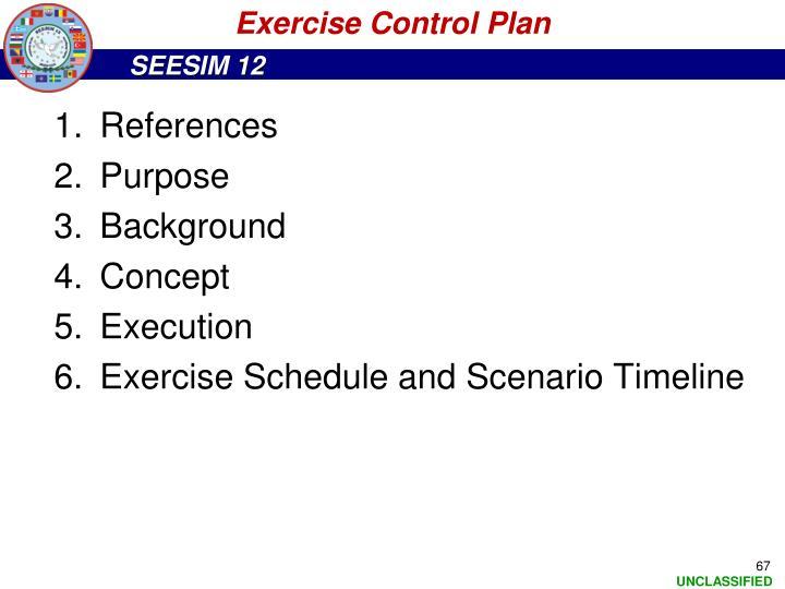 Exercise Control Plan