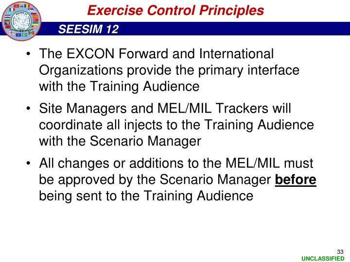 Exercise Control Principles