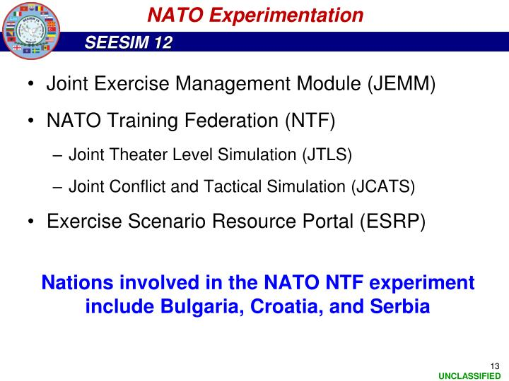 NATO Experimentation