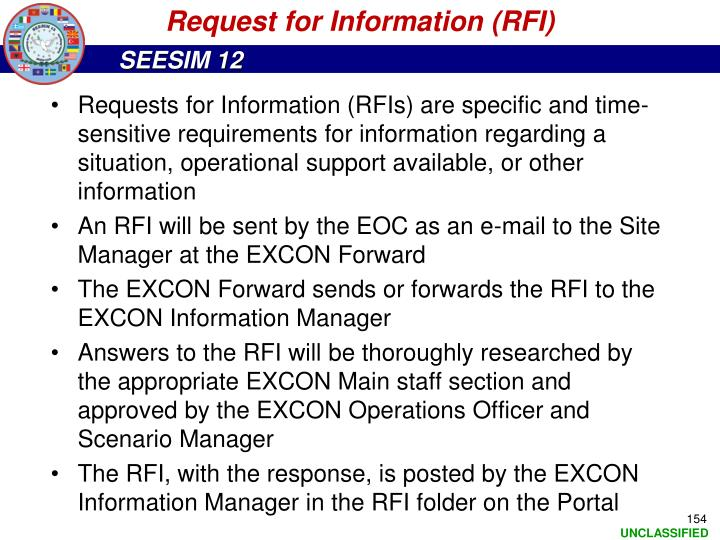 Request for Information (RFI)