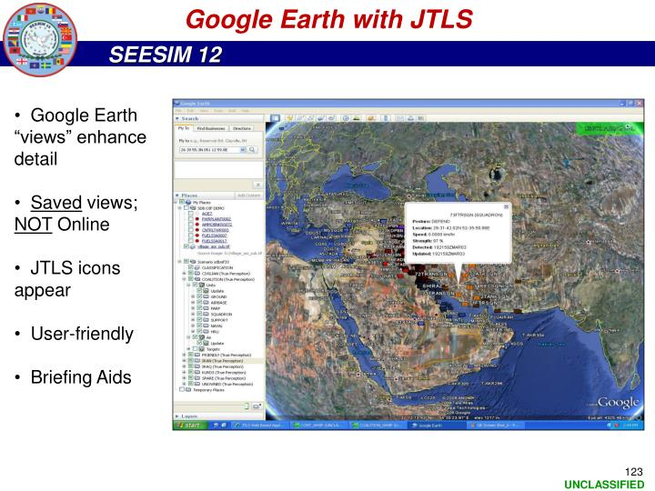 Google Earth with JTLS